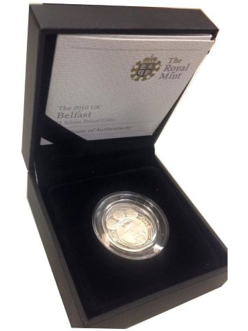 2010 Silver Proof One Pound Coin - Belfast